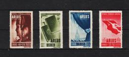 1945 -  1 Congres General A.R.L.U.S. (URSS) Mi 855/858  MNH - 1918-1948 Ferdinand, Carol II. & Mihai I.