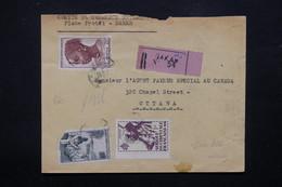 A.O.F. - Enveloppe En Recommandé De Dakar Pour Ottawa ( Canada ) En 1949 - L 22168 - Lettres & Documents