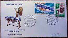 Enveloppes Premier Jour: Instruments De Musique Du Tchad  26 Oct 1965 - Tschad (1960-...)