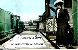 N°2649 A -cpa à L'arrivée à Caen Je Vous Envoie Le Bonjour- - Caen