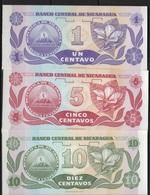 B 87 - NICARAGUA Lot De 3 Billets états Neufs - Nicaragua
