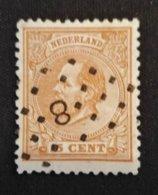 Nederland/Netherlands - Nr. 23D Met Puntstempel 8 - 1852-1890 (Guillaume III)