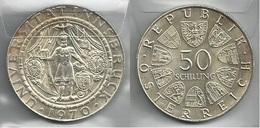 AUSTRIA 1970 - INNSBRUCK - 50 Schilling SPL / FDC - Argento / Argent / Silver - Confezione In Bustina - Austria