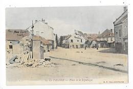 LAPALISSE  (cpa 03)  Place De La République  ## Très Rare ##  -  L 1 - Lapalisse