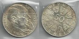 AUSTRIA 1970 - Karl RENNER - 50 Schilling SPL / FDC - Argento / Argent / Silver - Confezione In Bustina - Austria