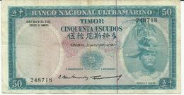 Nota 50 Escudos 24-10-1967 Timor - Timor