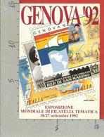 ITALIA - CARTOLINA GENOVA 92 ESPOSIZIONE FILATELIA - AFFRANCATA FDC VATICANO 12 - 10 - 92 - Borse E Saloni Del Collezionismo