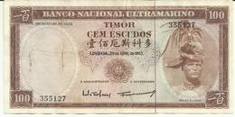 Nota 100 Escudos 25-04-1963 Timor - Timor