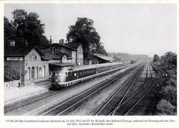 EYSTRUP - Bahnhof, Bw Frankfurt-Griesheim Durcheilt Den Bahnhof Eystrup - Bahnhöfe Mit Zügen