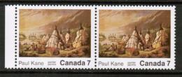 CANADA  Scott # 553** VF MINT NH PAIR (1 On Left---torn Tent Variety) (Stamp Scan # 452) - 1952-.... Règne D'Elizabeth II