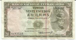 Nota 20 Escudos 24-10-1967 Timor - Timor