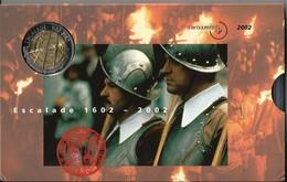 SVIZZERA 2002 - ESCALADE - DIVISIONALE FDC - N.° 9 Pezzi - Con 5 + 5 CHF (Fr. Sv.) - Confezione Originale (3 Foto) - Svizzera