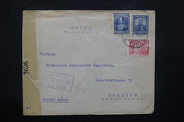 COLOMBIE - Affranchissement De Cali Sur Enveloppe Pour La Suisse Par Avion En 1945 Avec Contrôle Postal - L 22173 - Colombie