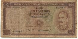 Nota 100 Escudos 02-01-1959 Timor - Timor