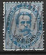 LEVANT   -  Bureaux Italiens   -   1881 .    Y&T N° 15 Oblitéré - 11. Foreign Offices