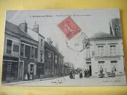 M2 7140 RARE CPA 1906 - 41 SAVIGNY SUR BRAYE. PLACE DE LA MAIRIE RUE DE LA CANARDIERE - ANIMATION. COMMERCES - France
