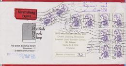LETTER GRMANY SENT ENGLAND NICE STAMPS - BRD
