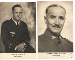 Dos Postales Con Personajes De La Guerra Civil Española - España