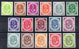 ALLEMAGNE - YT N° 9 à 24 - Neufs ** - MNH - Cote: 2418,00 € - [7] République Fédérale