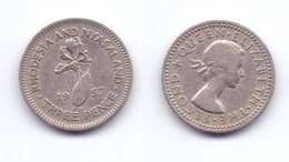 Rhodesia & Nyasaland 3 Pence 1957 - Rhodésie
