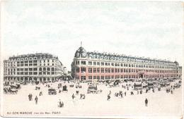 CPA Carte Postale, Cartolina Postale, Postal Card. Vue Du Magasin AU BON MARCHE (rue Di Bac). SIT 13-6. - France