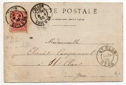 1903--CPA Entrée Des Allées De DIJON-21--pour St CLAR-32--cachets Jumelés Daguin--type Mouchon --cachet SAINT CLAR--32 - Storia Postale
