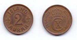 Iceland 2 Aurar 1942 - Islande