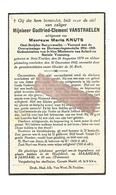 D 595. GODFRIED-CLEMENT VANSTRAELEN - Oud-Strijder Burgerwacht - Medaille 1914/18 - °ST-TRUIDEN 1879 En Aldaar + 1942 - Imágenes Religiosas