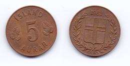 Iceland 5 Aurar 1963 - Islandia