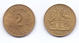 Iceland 2 Kronur 1963 - Islande
