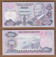 AC - TURKEY 6th EMISSION 1000 TL B UNCIRCULATED - Turquie