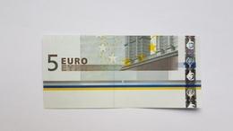 5 Euro 2002 Teilstück Aus Bogen Unvollständig, Kassenfrisch, Part Of A 5 EURO Sheet UNC - EURO
