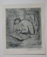 Ex-libris Illustré Tchecoslovaquie XXème - V.B. - Gravure Par BOCHORAKOVA-DITTRICHOVA - Bookplates