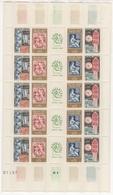 France. 1964. 1414/17 ** MNH En Feuille. Cote Y&T 2015 : 11 € - Feuilles Complètes