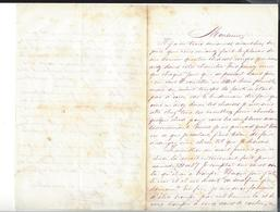 DEL CAMPO  Correspondance  Pour De Germiny   MEXIQUE - MEXICO Autographe    1865 - Autographes