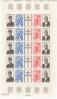 France. 1971. 1695/98 ** MNH En Feuille. Cote Y&T 2015 : 17,50 € - Feuilles Complètes