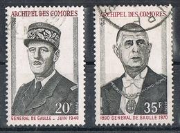COMORES N°77 Et 78  Général De Gaulle - Oblitérés