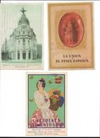 Tres Postales Publicitarias Circuladas - España