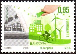 CEPT / Europa 2016 Luxembourg N° 2035 ** Think Green - Ecologie, Vélo - Europa-CEPT