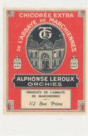 AN 406  / ETIQUETTE   DE CHICOREE     DE L'ABBAYE  DE MARCHIENNES  ALPHOSE LEROUX   ORCHIES - Other