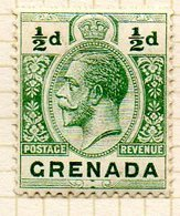 AMERIQUE CENTRALE - GRENADE - (Colonie Britannique) - 1913-21 - N° 69 - 1/2 P. Vert - (George V) - Centraal-Amerika