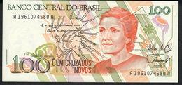 BRAZIL P220 100 CRUZADOS NOVOS 1989 #A1961   UNC. - Brésil