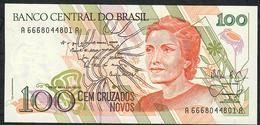 BRAZIL P220 100 CRUZADOS NOVOS 1989 #A6668   UNC. - Brésil