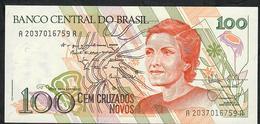 BRAZIL P220 100 CRUZADOS NOVOS 1989 #A2037   UNC. - Brazil