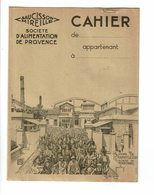 Protège Cahier SAUCISSON MIREILLE Usine De Champfleury Sortie Ouvriers Rullière Avignon Alimentation Provence Nicoliten - Protège-cahiers