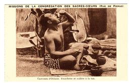 COSTUMES D' OCÉANIE - Fourchette Et Cuillère à La Fois - Cartes Postales