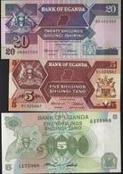 B 96 - OUGANDA Lot De 3 Billets états Neufs - Ouganda