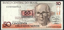 BRAZIL P223b 50CRUZEIROS/50 CRUZADOS NOVOS 1990 # A3497  UNC. - Brésil