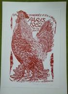 Ex-libris Illustré Tchecoslovaquie XXème - IX CONGRES D'EX-LIBRIS DE PARIS - 1962 - Coq - Ex-libris