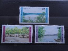 1985 Cameroun Yv 763/5 ** MNH Tourisme Landscape Cote  4.00 € Michel 1085/7  Scott 787/9  SG 1044/6 - Cameroun (1960-...)